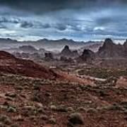 Rainy Day In The Desert Poster