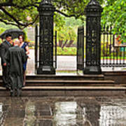 Rainy Destination Wedding In Jackson Square New Orleans Poster