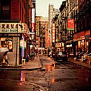 Rainy Street - New York City Poster by Vivienne Gucwa