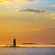 Ram Island Lighthouse Casco Bay Maine Poster