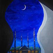 Ramadan Moon Poster by Haleema Nuredeen