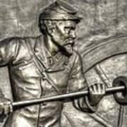Ramming The Charge. Detail-c 1st New York Light Artillery Fitzhughs Battery K Gettysburg Poster
