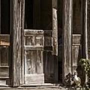 Ranch Cabin Old Door In Antique Color 3007.02 Poster