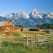 1m9392-ranchland And The Tetons Poster