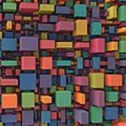 Random Cubes Poster