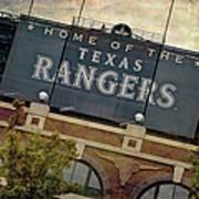 Rangers Ballpark In Arlington Color Poster