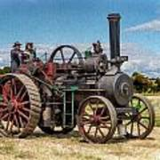 Ransomes Steam Engine Poster