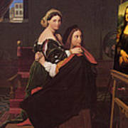 Raphael And The Fornarina 1814 Poster