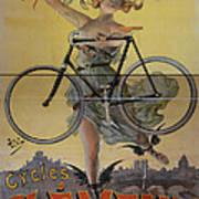 Rare Vintage Paris Cycle Poster Poster