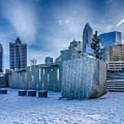 Rare Winter Scenery Around Charlotte North Carolina Poster