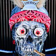 Rat Rod Skull Hood Ornament 2 Poster
