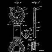 Ratchet Wrench Patent Poster