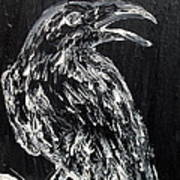 Raven On The Branch - Oil Painting Poster