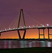Ravenel Bridge At Night Poster