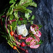 Raw Beeet Salad Ingredients Poster