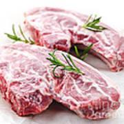 Raw Lamb Chops Poster