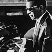 Ray Charles At The Piano Poster