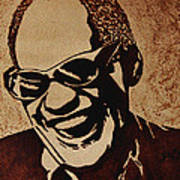 Ray Charles Original Coffee Painting Poster