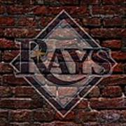 Rays Baseball Graffiti On Brick  Poster by Movie Poster Prints