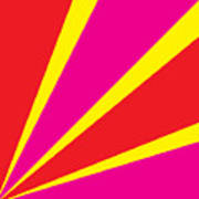 Rays Of Color Pink And Red Poster