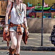Redhead Crossing Main Street Poster