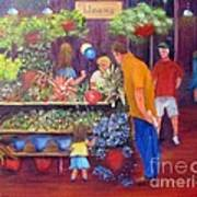 Reading Terminal Market Flowers Poster