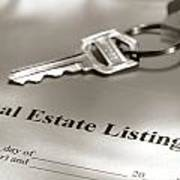 Real Estate Listing And Hosue Keys Poster