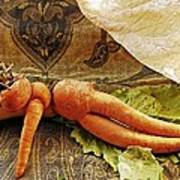 Reclining Nude Carrot Poster