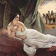 Reclining Odalisque 1839 Poster