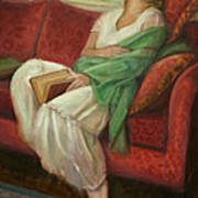 Reclining With Book Poster