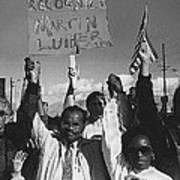 Recognize Martin Luther King Day Rally Tucson Arizona 1991 Black And White Poster