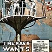 Recruiting Poster - Britain - Navy Wants Men Poster