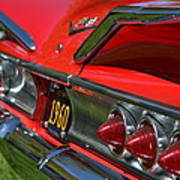 Red 1960 Chevy Poster
