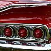 Red 1960 Chevy Tail Light Poster