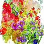 Red And Purple Calibrachoa - Digital Paint II Poster