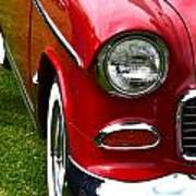 Red And White 50's Chevy Poster