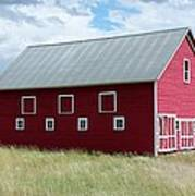 Red And White Barn Poster
