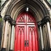 Red Baltimore Door Poster
