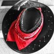 Red Bandana And Cowboy Hat Poster