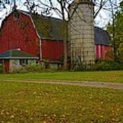 Red Barn And Silo#2 Poster