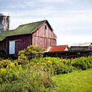 Red Barn In Groton Poster
