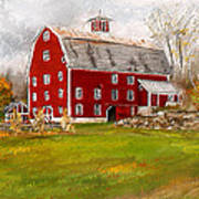 Red Barn In Woodstock Vermont- Red Barn Art Poster