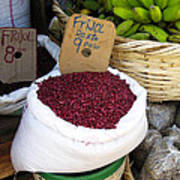 Red Beans At Nicaragua Market Poster