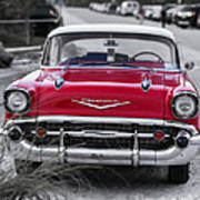 Red Belair At The Beach Standard 11x14 Poster