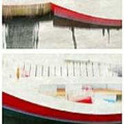 Red Boat At The Dock Poster