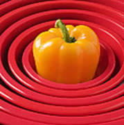 Red Bowls And Pepper Poster
