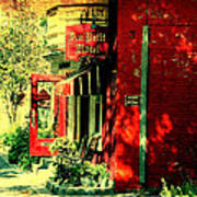 Red Brick Hotel Photograph Poster