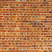 Red Brick Wall Texture Poster