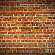 Red Brick Wall Texture With Vignette Poster