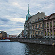 Red Bridge - St. Petersburg - Russia Poster